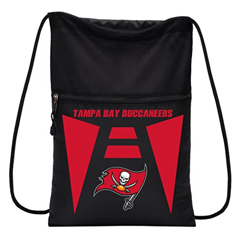 Officially Licensed NFL Tampa Bay Buccaneers Team Tech Backpack Backsack, One Size