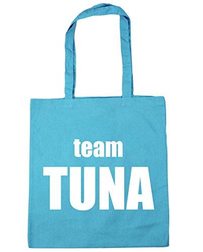 HippoWarehouse Team Tuna office Tote Shopping Gym Beach Bag 42cm x38cm, 10 litres Surf Blue