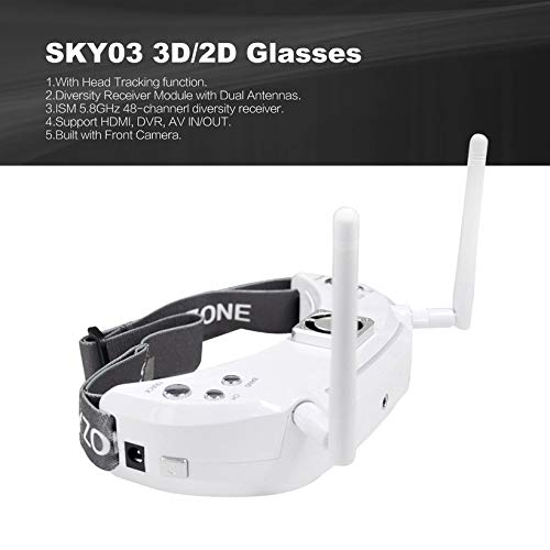 Wikiwand SKYZONE SKY03 3D/2D Glasses 5.8G 48CH Diversity Receiver FPV Goggles DVR
