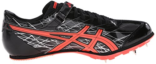 Zapato de pista larga de salto para hombre, Negro / Coral destellante / Plateado, 12.5 M US