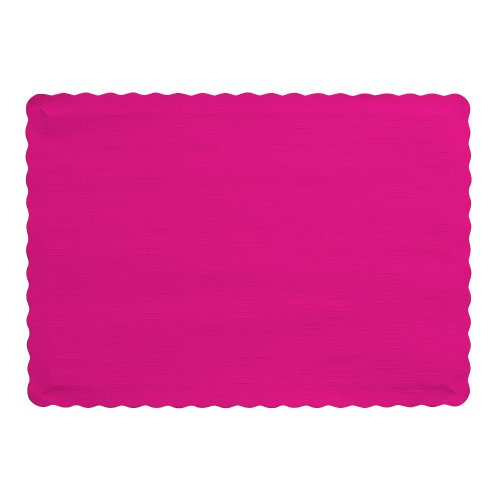 Creative Converting Count Placemats Magenta