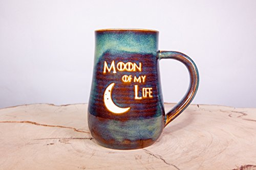 Game of Thrones Moon of My Life Handmade Coffee Pottery Mug (Through Sand Pottery White)