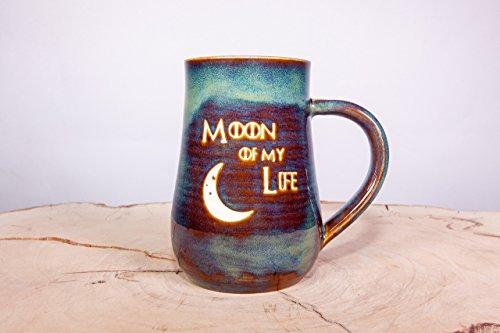 Game of Thrones Moon of My Life Handmade Coffee Pottery Mug (Through Pottery White Sand)
