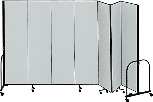 (Screenflex - CFSL807 Grey - 13 ft. 1 in. x 8 ft, 7-Panel Portable Room Divider, Gray)