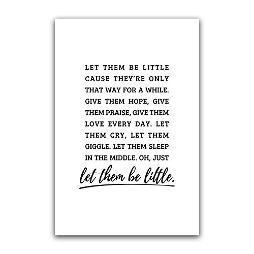 Let Them Be Little Nursery Wall Art, Kid Poster, Children De