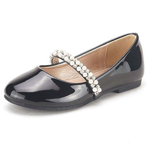 - DREAM PAIRS Toddler Serena-100-Black Pat Girl's Mary Jane Ballerina Flat Shoes - 10 M US Toddler