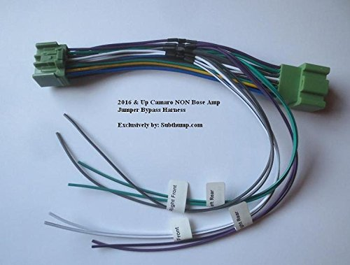 Amazon.com: 2016-2018 Camaro Non Bose Amplifier Add Amp Integration on chevy wheel cylinders, chevy 1500 wireing harness color codes, chevy power socket, chevy wiring horn, chevy crossmember, chevy wiring schematics, chevy battery terminal, chevy radiator cap, chevy clutch line, chevy alternator harness, chevy front fender, chevy fan motor, chevy rear diff, chevy speaker wiring, chevy relay switch, chevy clutch assembly, chevy abs unit, chevy wiring connectors, chevy warning sticker, chevy speaker harness,