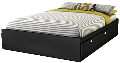 South Shore Spark Full Mates Bed, Pure Black