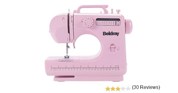 Beldray - Máquina de Coser con Accesorios (12 Puntadas), Color Rosa: Amazon.es: Hogar