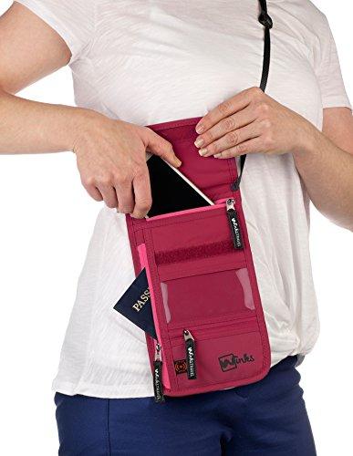 Winks Travel Shoulder Wallet Holder for Women | RFID Blocking Neck Pouch