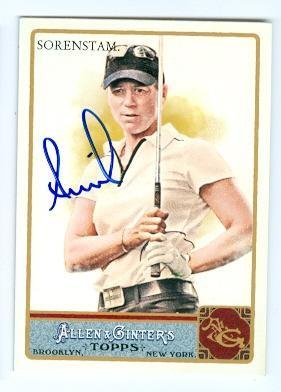 Annika Sorenstam autographed trading card (Ladies Golf Player) 2011 Topps Allen and Ginters #45 - Autographed Golf Cards