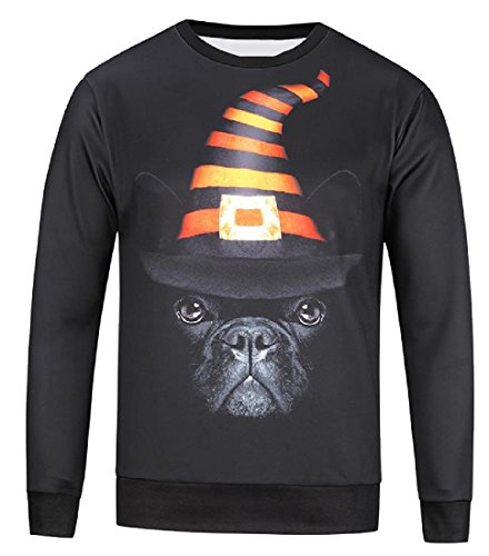 Tumblr Halloween Costumes (Aprilley Men Gym Ultra-Soft Halloween Costume Loose Casual Pullover As Picture S)