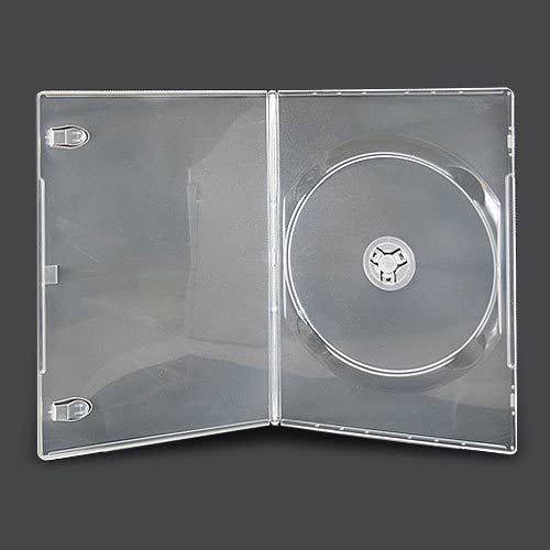 Visión Media 10 X Individual Transparente Fino 7mm Espina DVD CD BLU RAY Funda: Amazon.es: Electrónica