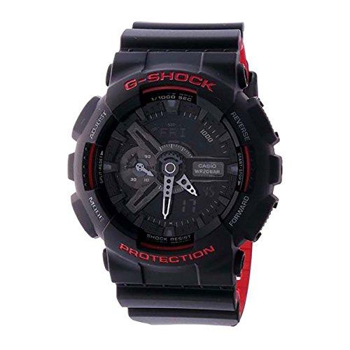 Casio G-Shock GA-110HR Black/Red Series Black - Black / One Size