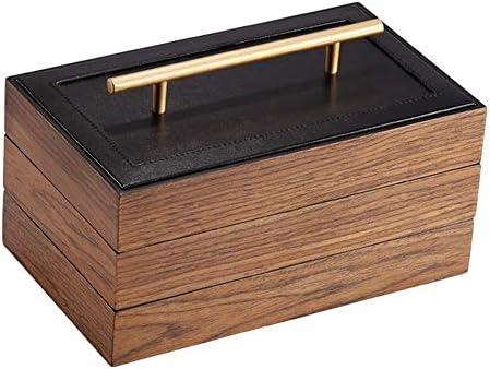ジュエリーボックス ジュエリーボックス木製ショーケースハンドル付き3層高容量リングネックレスブレスレット用のシンプルなスタイルの収納ボックス アクセサリー 収納 ジュエリー収納ボックス
