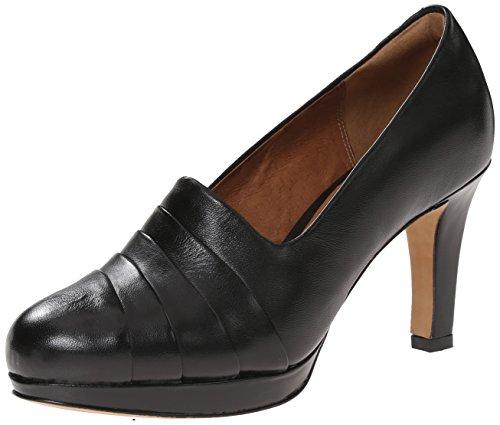 Bomba Clarks Delsie vestido de la alegría Black Leather