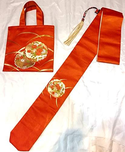 中国武術 リメイク 着物帯 使用 刀袋 剣袋 シューズバッグ セット 竹刀 模造刀 日本刀 木刀 剣袋 収納 B07RSTKDRM カラー4
