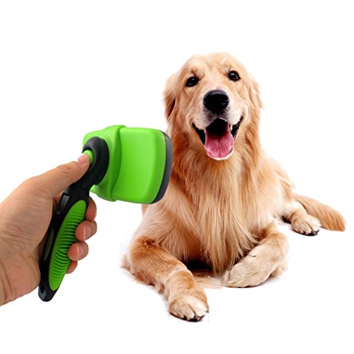 Pet Grooming Brush,Sunfei Dogs Cats Pet Grooming Self Cleaning Slicker Brush Comb Hair Fur Shedding Tool