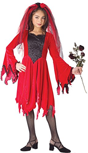 Girls Devil Bride Red Kids Child Fancy Dress