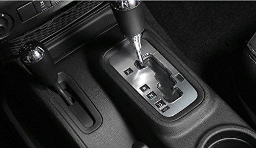 Jeep Wrangler Gear - E-cowlboy Aluminum Inner Accessories Trim Gear Frame Cover for Jeep Wrangler 2012 2013 2014 2015 2016 2017 (Silver)