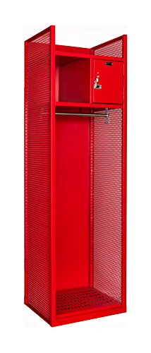 Hallowell TGNN42(84)-1BC-G-RR-HT Fully-Framed All-Welded Turnout Gear/Firefighter Locker with Base Color, 24.75