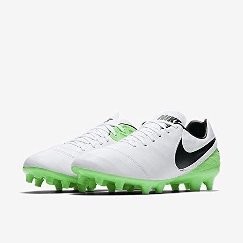 Nike Tiempo Mystic V Fg, Zapatillas de Fútbol para Hombre Blanco (White/black-electro Green)