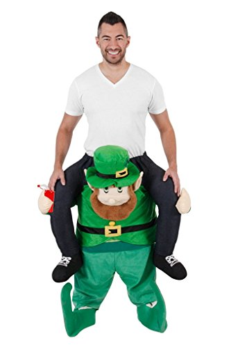 Adult Size Plush Pull On Ride On Leprechaun Costume - Carry Me - 2 Sizes