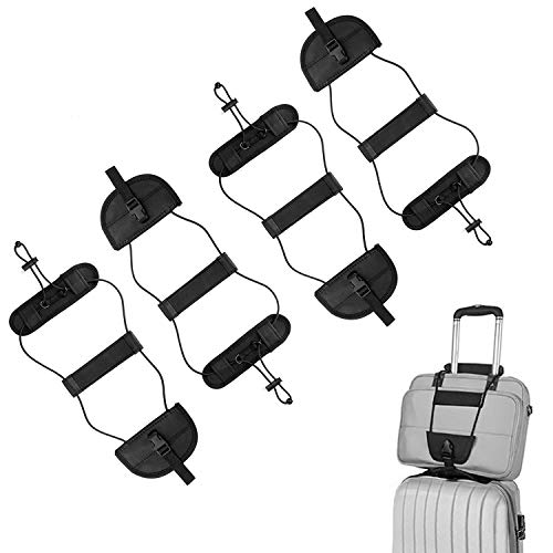 ONSON Bag Bungee, 4Pack Luggage Straps Suitcase Adjustable Belt - Lightweight and Durable Travel Bag Accessories