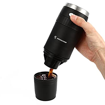 Portable K-Cup Coffee Maker Mini Travel K-Cup Brewer Battery Operated 2AAA Coffee Machine-Ground Coffee &Capsule Compatible, Coffee Lovers Gift for Commuter Camping Outdoors Office with Reusable K-cup