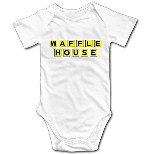 Zenobian Unisex Baby Waffle House Logo T Shirt Bodysuit for sale  Delivered anywhere in USA