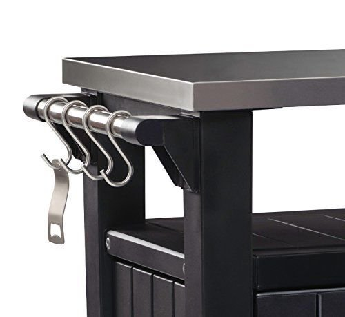 Keter Unity Indoor Outdoor BBQ Entertainment Storage Table / Prep Station with ..#from-by#_abood.av it#199172317511378 by Regarmans (Image #2)