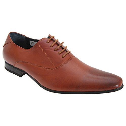 Route 21 Mens 5 Eyelet Plain Oxford Tie Shoes (11 US) (Eyelet Tie Shoe)