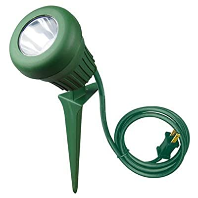 Yard Master. 0434 LED 60W 200 Lumen Stake Light, 5 LEDs, Green with 2 Extra Lenses