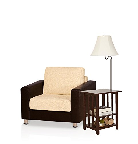 Combination Floor Lamp End Table Magazine With 3 Rack, Floor Lamp Table  With Shelves U0026