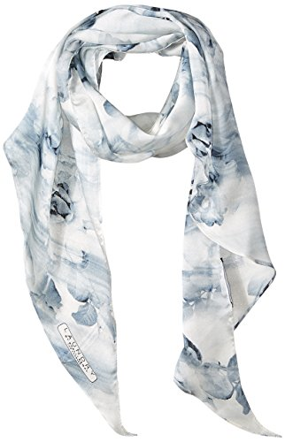 LAUNDRY BY SHELLI SEGAL Women's Photographic Floral Oblong Scarf, periwinkle, One Size