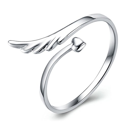 Time Pawnshop Angel Wings Sterling Silver Adjustable Lady Ring