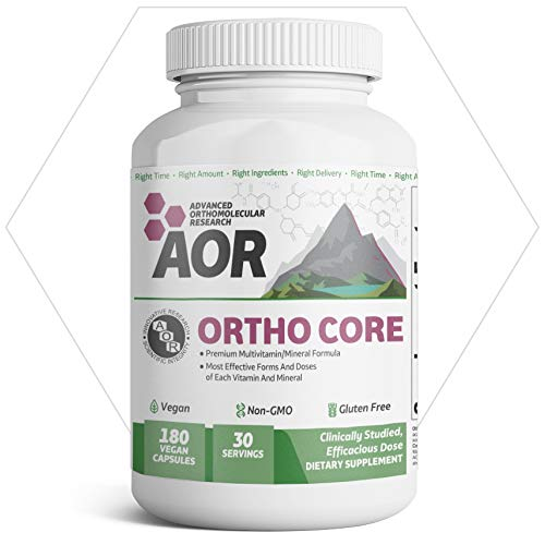 AOR - Ortho Core, Multivitamin Support for Foundational Health and Balanced Nutrition with B-Vitamins, and Magnesium, Vegan, Non-GMO, Gluten-Free, 180 Capsules