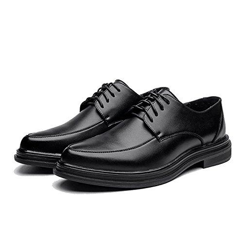 Hombre Duoshengzhtg Cordones Negro Para Papel Zapatos De g4gqaX