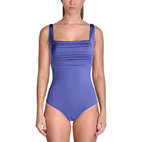 Calvin Klein Women's Shirred One-Piece Swimsuit (Vivid Purple, 12) by Calvin Klein
