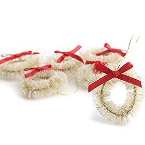 Factory Direct Craft Miniature Decorated Frosted Sisal Christmas Wreath 88