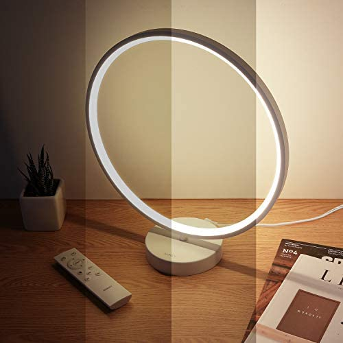 Bedside Lamp Dimmable Circle Memory Function Remote Control 6 Lighting Modes RGB