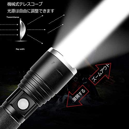 YANJ 6500 High Lumens, LED Flashlights, 4 Modes Zoomable Water Resistant Handheld Mini Torch, Rechargeable Battery Include. (Size : 300WPackage 4)