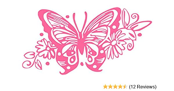 """Tribal Butterfly Window Decal 3/"""" tall ~Choose Color No Background GREAT GIFT"""