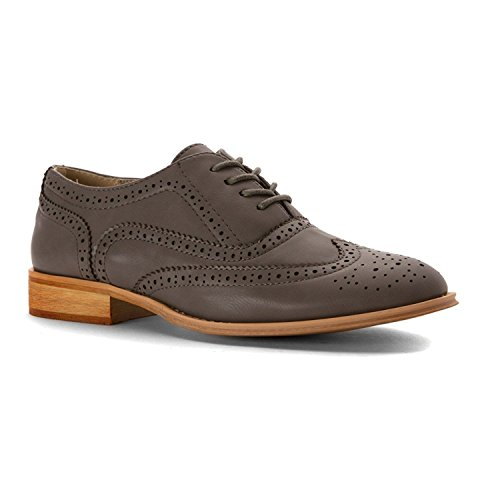 Wanted+Shoes+Women%27s+Babe+Oxford%2C+Grey%2C+11+M+US