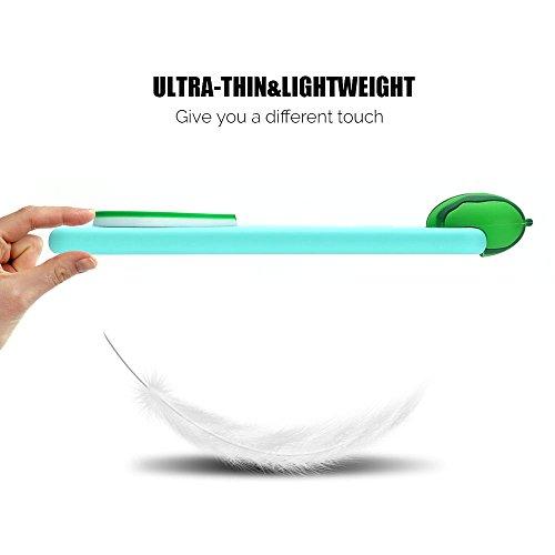 Funda P10 Lite Carcasa Huawei P10 Lite Anfire Suave Silicona Flexible Gel TPU Case Ultra Ligero Anti-Gota Anti Rasguños Bumper Cover para Huawei P10 Lite [5.2 Pulgadas] Blando Protectora Tapa Soft She Sandía