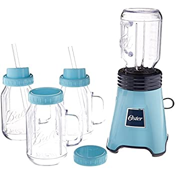 Oster Ball Personal Blender, Blue with Bonus Blending Cup