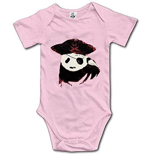 (Merle Swinburne Funny Infant Baby Bodysuit Panda Pirates Onesies Short Sleeve for Baby Boys Girls 0-24 Months)