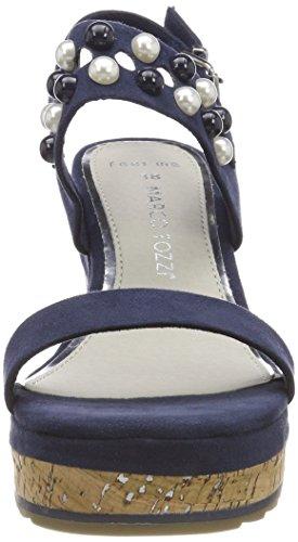 Marco Navy Cinturino Tozzi Blu Caviglia 28376 Donna alla con Sandali rzrqFP