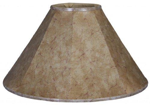 Royal Designs Empire Lamp Shade, Faux Rawhide, 5 x 14 x - Faux Rawhide Shade