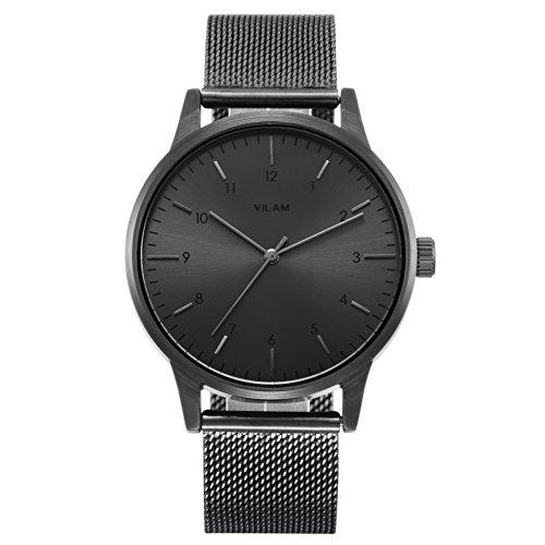 VILAM Mens Watches V3001G Top Luxury Wristwatch (Black)